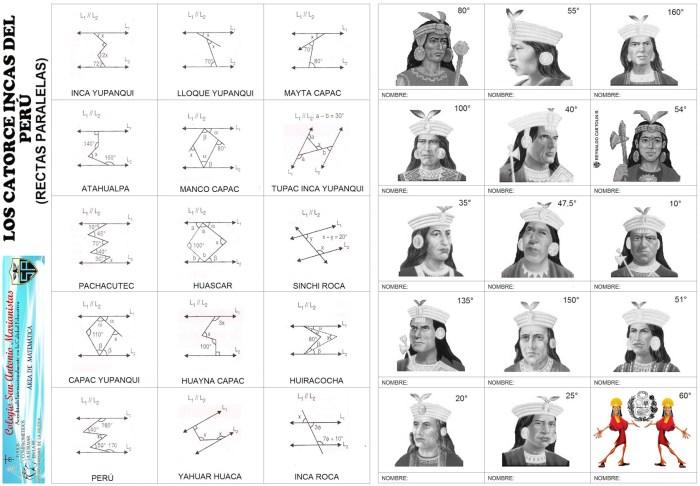 Los catorce incas - rectas paralelas