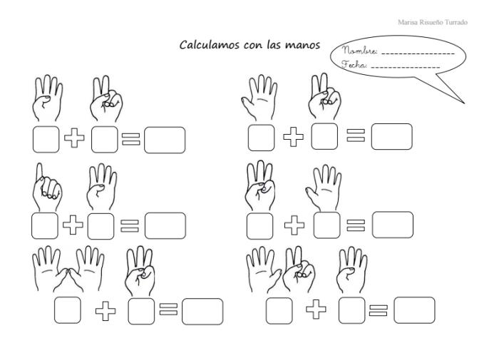 sumas con las manos