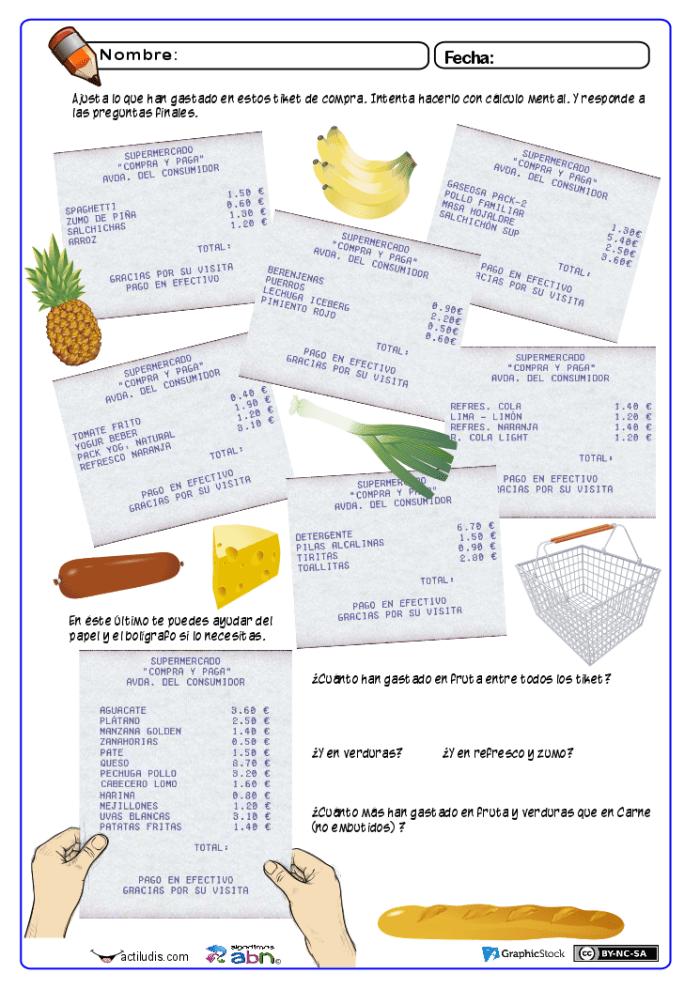 Tiket de compra con decimales exactos 01