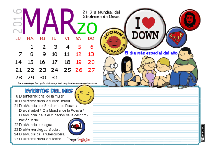 MARZO 2016 DATOS Y COLOR