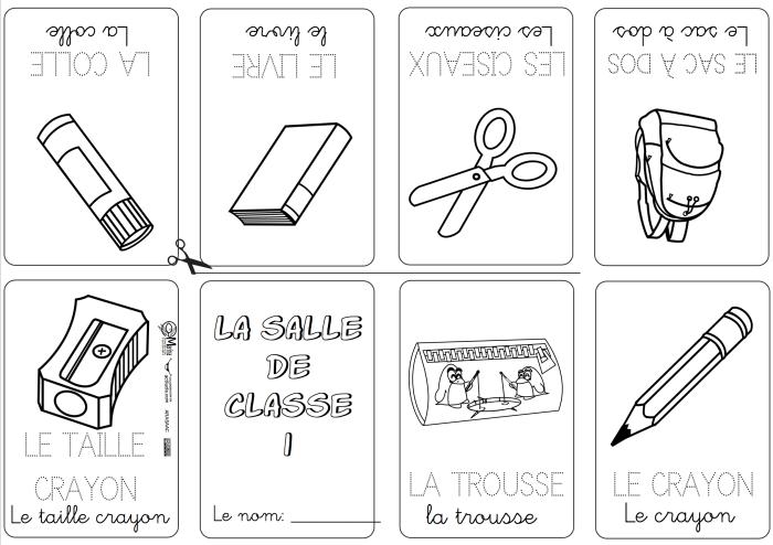Mini libros y vocabulario en Francés - Actiludis