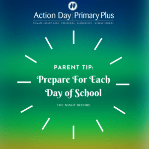 Prepare for each day of school