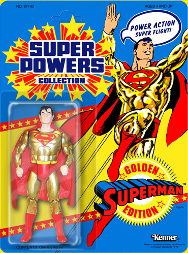 MATTY COLLECTOR DC SUPER POWERS GOLD SUPERMAN GOLDEN EDITION 30 ANNIVERSARY