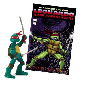 Teenage Mutant Ninja Turtles Comic Book with Action Figure from Playmates Toys (1)