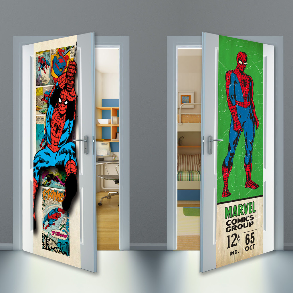 The company\u0027s patented home décor innovation the door wrap is made of durable kid-tested material that affords reuse year after year. & Action Figure Insider » Mydor Presents New #Marvel Door Wraps