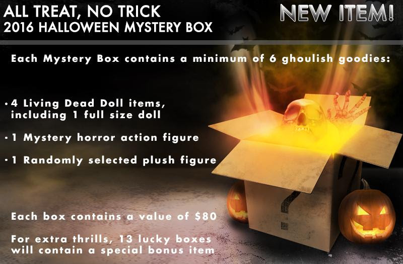 Mezco 2020 Halloween Mystery Box Action Figure Insider » Mezco Presents All Treats, No Tricks