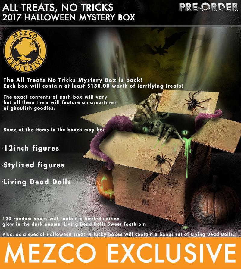 Mezco 2020 Halloween Mystery Box Action Figure Insider » @MezcoToyz Reveals All Treats No Tricks