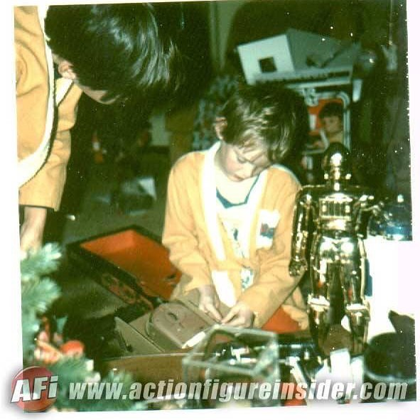 This is me circa 1978 having a VERY Opening up the sonic controlled landspeeder