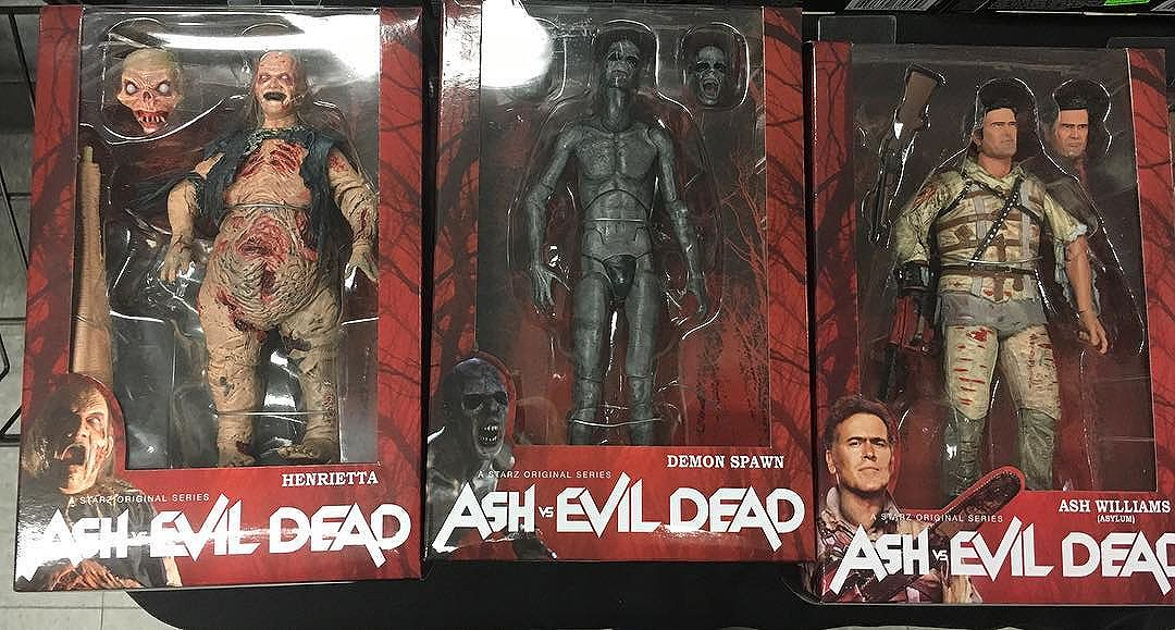 Spotted the new wave of the @necaofficial @ashvsevildead at @thecomicbug