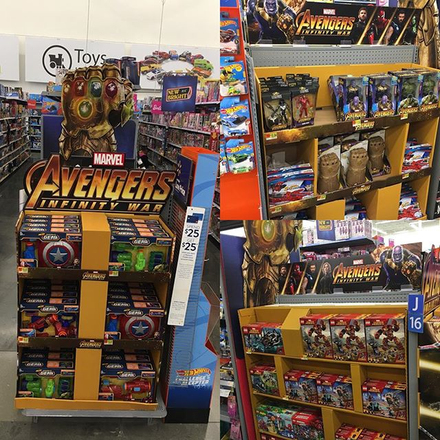 @walmart has now set their @avengers 3-way endcap