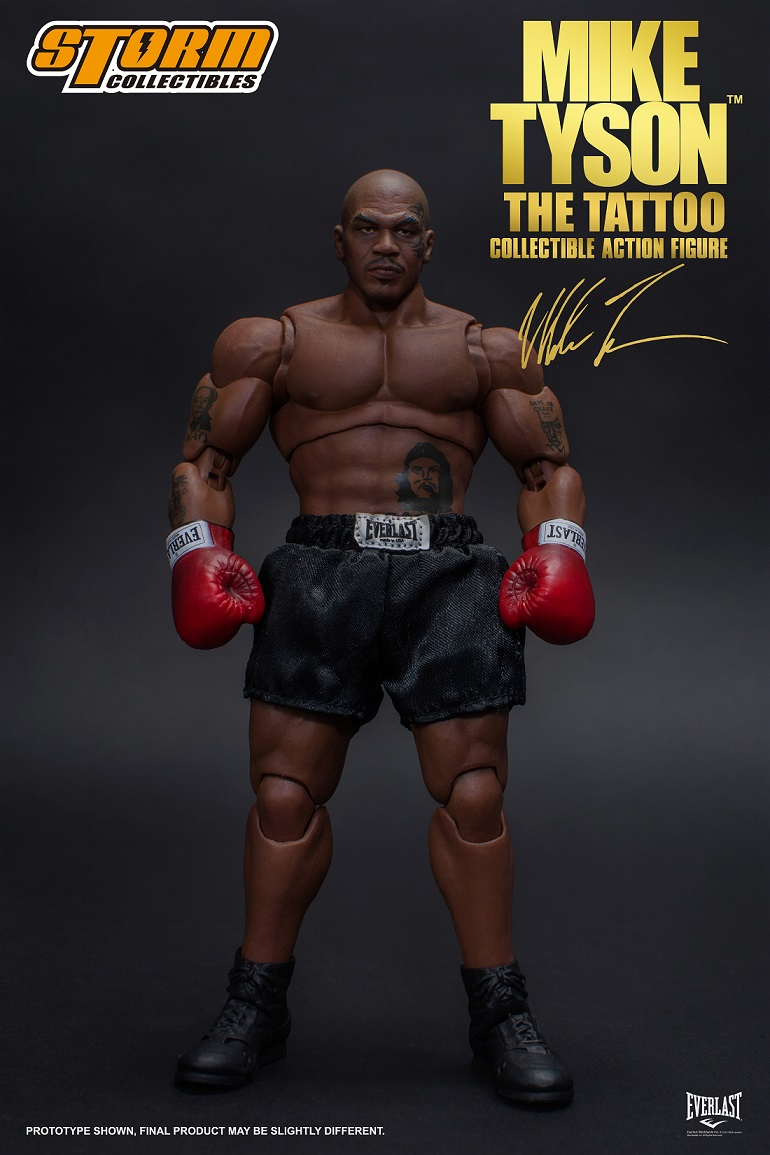 """2623ff097 ... latest addition to its line of 1/12 scale action figures from Storm  Collectibles with the opening of pre-orders for the Mike Tyson """"The Tattoo""""  figure."""
