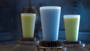 Innovative and creative drinks from around the galaxy will be available at Star Wars: GalaxyÕs Edge when it opens  May 31, 2019, at Disneyland Park in Anaheim, Calif., and Aug. 29, 2019, at Disney's Hollywood Studios in Lake Buena Vista, Fla. Blue Milk and Green Milk can be found in the Black Spire Outpost market inside Star Wars: GalaxyÕs Edge. (David Roark/Disney Parks)