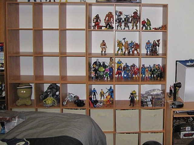 """New shelving cubes that replaced """"Staging Area One"""""""