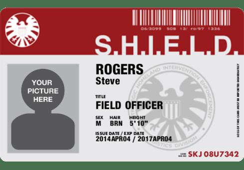 Cafepress SHIELD ID Badge blank