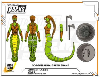Wave 2 - Green Snake Gorgon