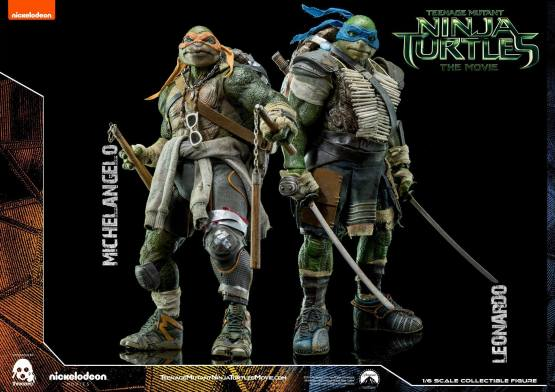 Threezero Teenage Mutant Ninja Turtles Movie Leonardo and Michelangelo 1