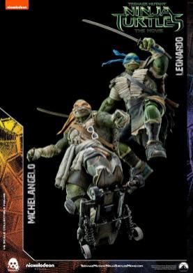Threezero Teenage Mutant Ninja Turtles Movie Leonardo and Michelangelo 2