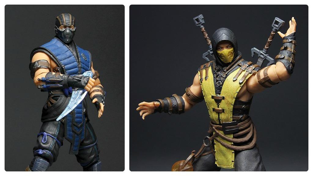 Mezco Announces 12 Inch Mortal Kombat X Sub Zero And Scorpion