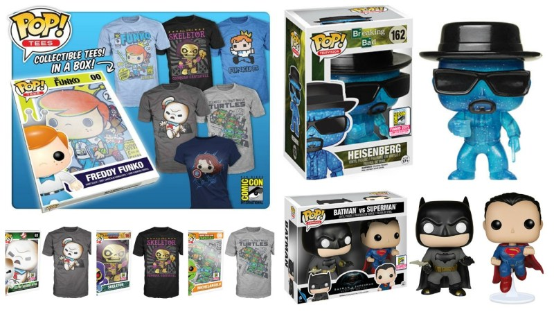 SDCC 2015 Funko Exclusives Reveals Bonus plus Tees