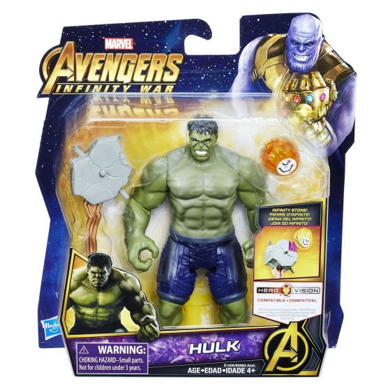 MARVEL AVENGERS INFINITY WAR 6-INCH DELUXE Figure Assortment (Hulk) - in pkg