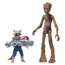 MARVEL AVENGERS INFINITY WAR 6-INCH DELUXE Figure Assortment (Rocket Raccoon & Groot) - oop