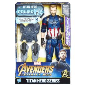 MARVEL AVENGERS INFINITY WAR TITAN HERO 12-INCH POWER FX Figures (Captain America) - in pkg