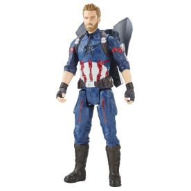 MARVEL AVENGERS INFINITY WAR TITAN HERO 12-INCH POWER FX Figures (Captain America) - oop