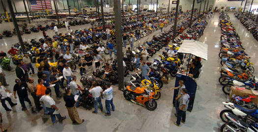 Buying a motorcycle at auction