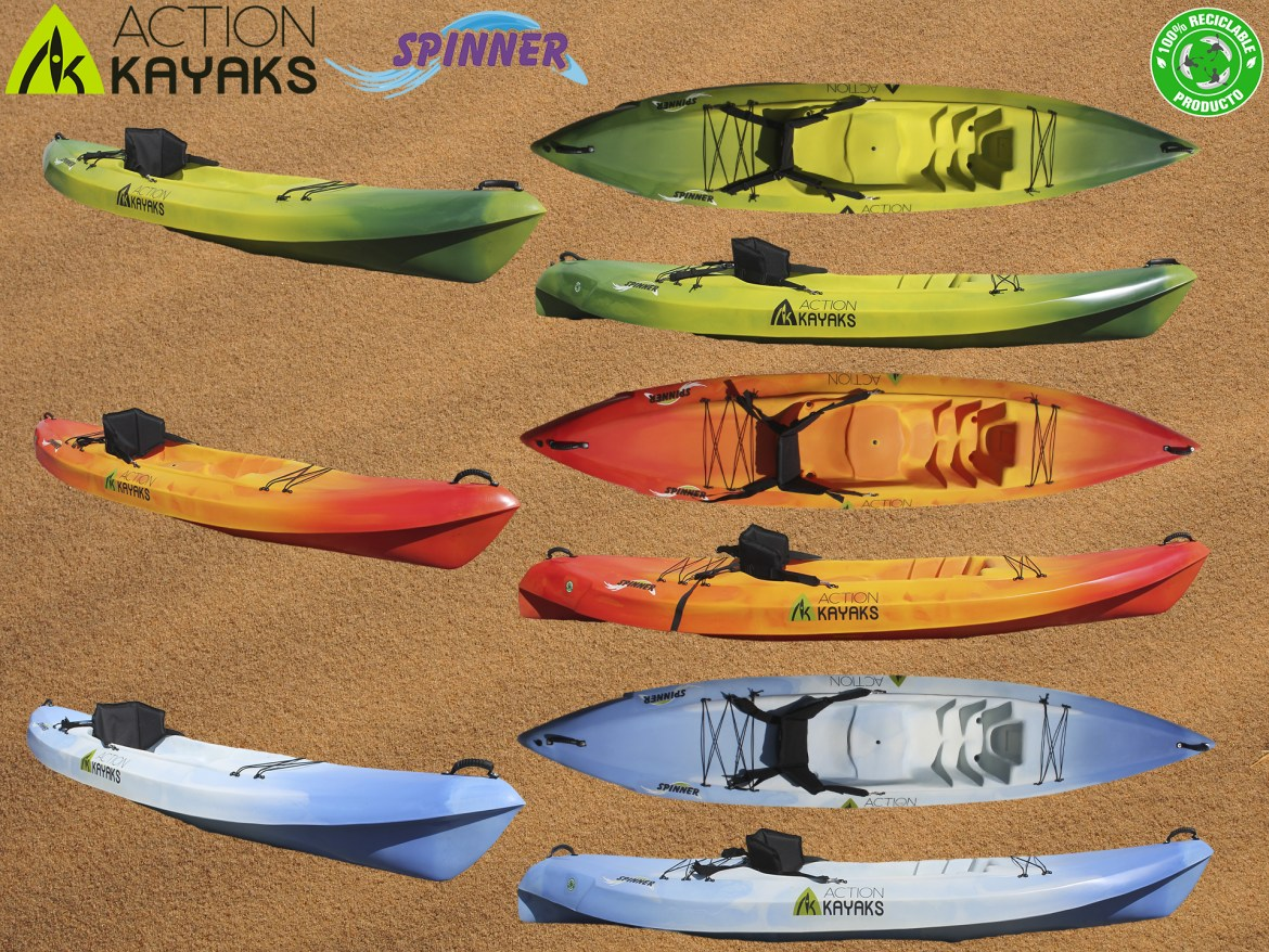 Colores Spinner Action Kayaks Single