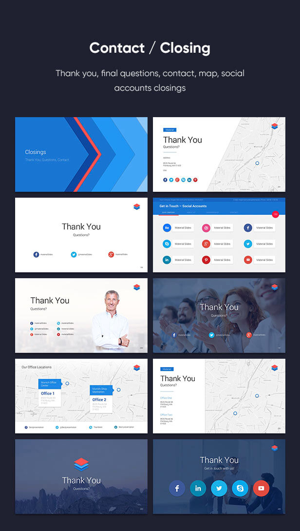 Material PowerPoint Presentation Template - 16