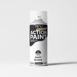 Action Paint - Black (Matt)