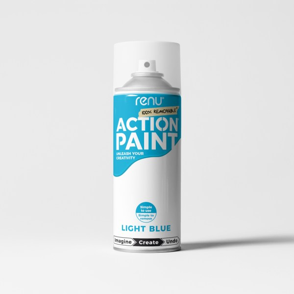 Action Paint - Light Blue