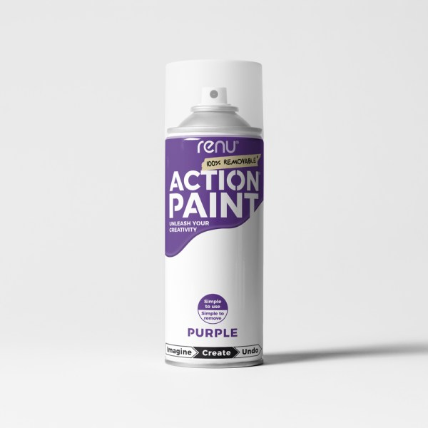 Action Paint - Purple