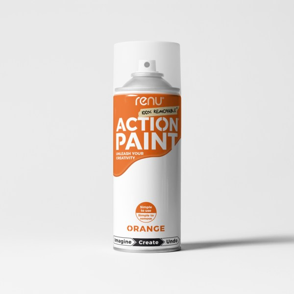 Action Paint - Orange