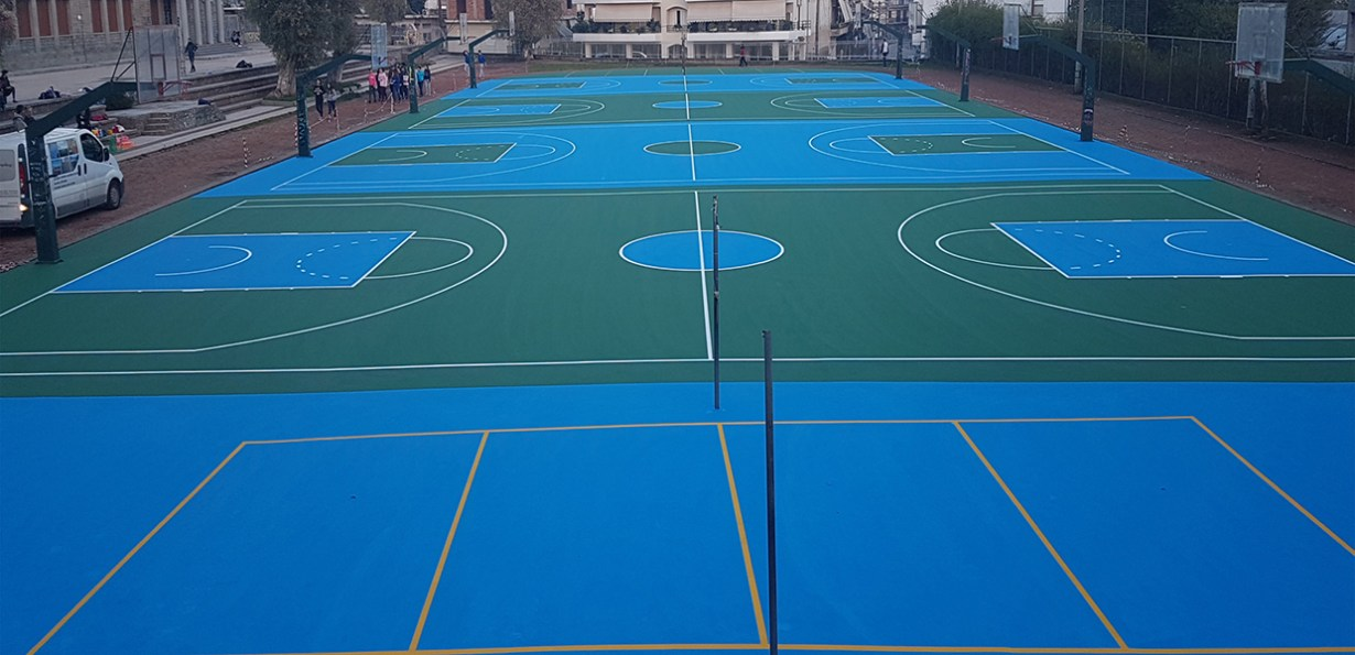 actionplay acrylic athletic flooring basketball volley