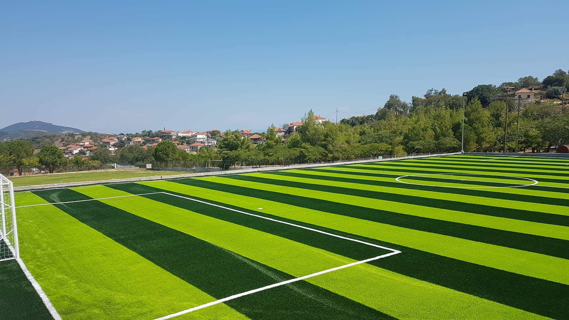 Synthetic turf in the 7×7 Monastiraki football field