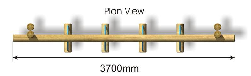 Swinging Logs plan view