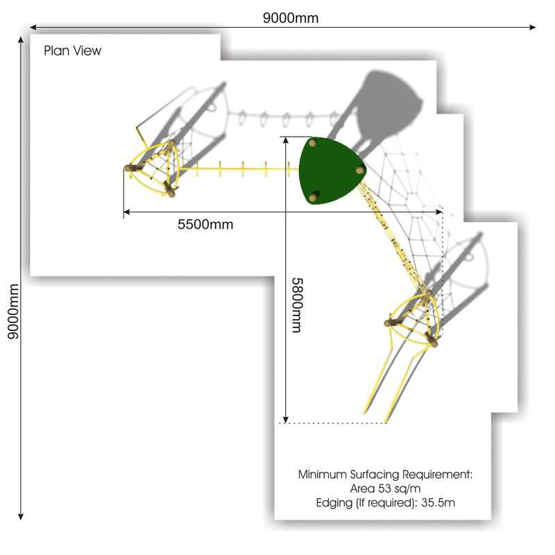 Xplorer 12 Climbing Frame plan view