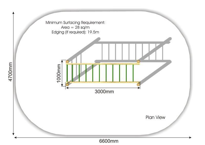 Horizontal Ladder | Monkey Bar plan view