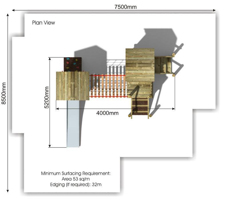 Waxham 5 Play Tower plan view