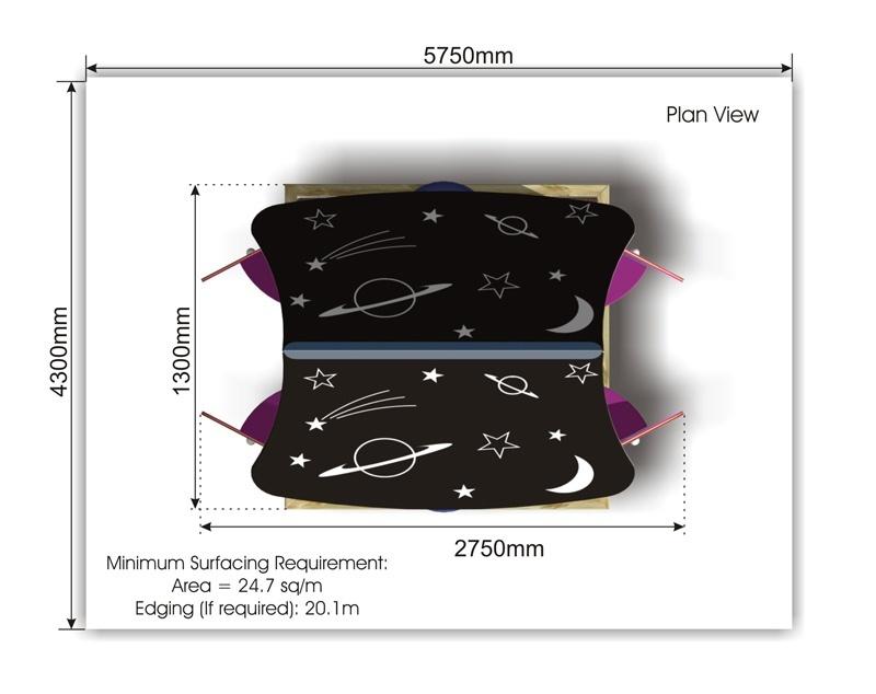 Spaceship Playhouse plan view