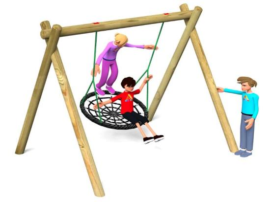 Nest swing for playgrounds