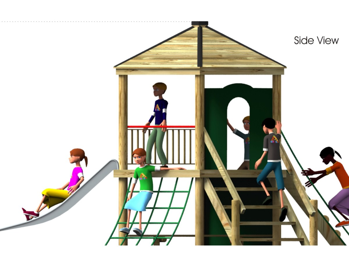 Foxley 7 Inclusive Play Tower side view