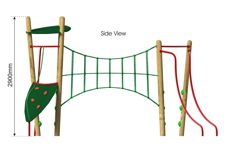 Xplorer 2 Climbing Frame side view