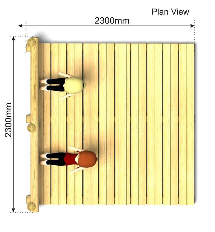 2 Bay Sit Up Platform plan view