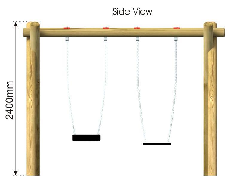 2 Seat Swing 2 side view