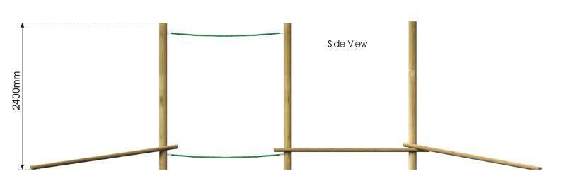 Beam Rope Walk side view