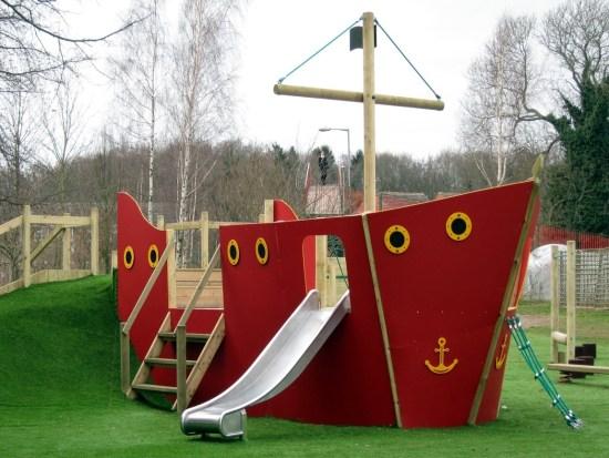Bespoke playground equipment play ship