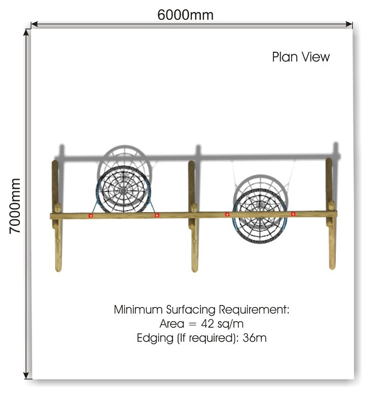 Double Nest Swing 7 plan view