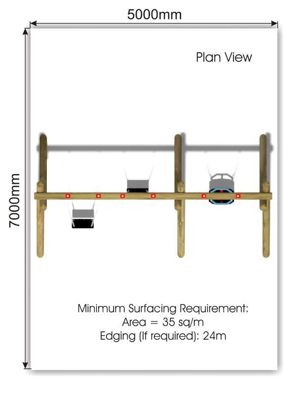 Flat & Cradle Swing 3 plan view